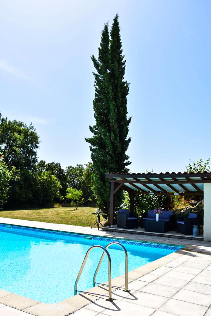 the lodge's swimming pool