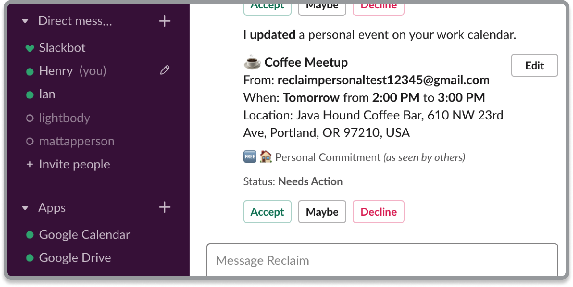 Stay updated in Slack