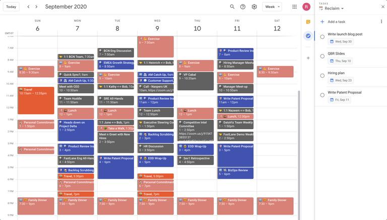 Google Tasks + Calendar