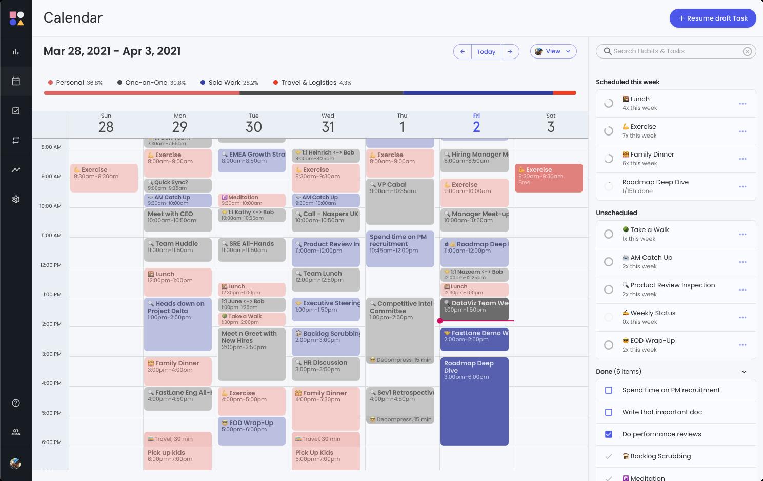 Reclaim Planner: Smart Time Blocking for your Calendar