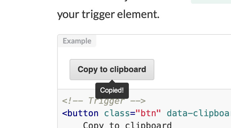 Copy to Clipboard Button