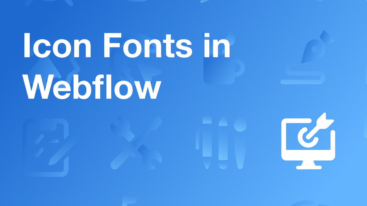 Icons in Webflow Made Easy with Icon Fonts
