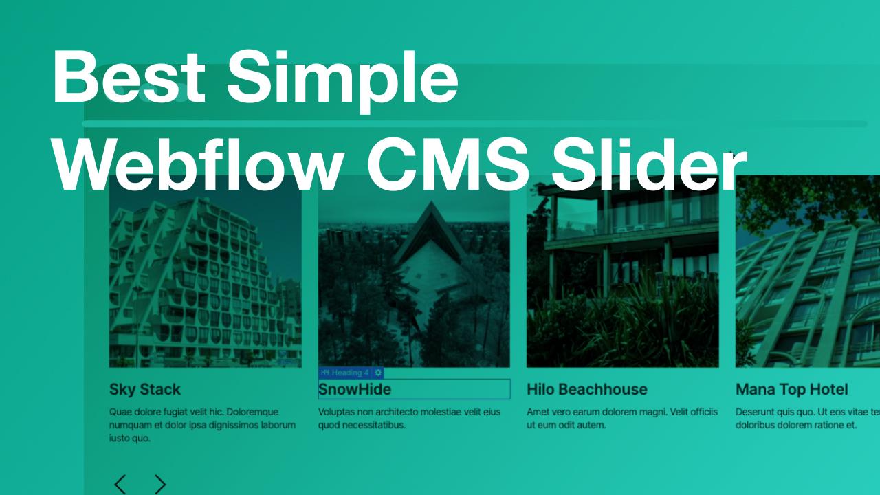 The Best Simple CMS Slider for Webflow