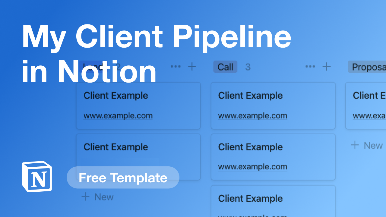 My Client Pipeline in Notion for Webflow Projects