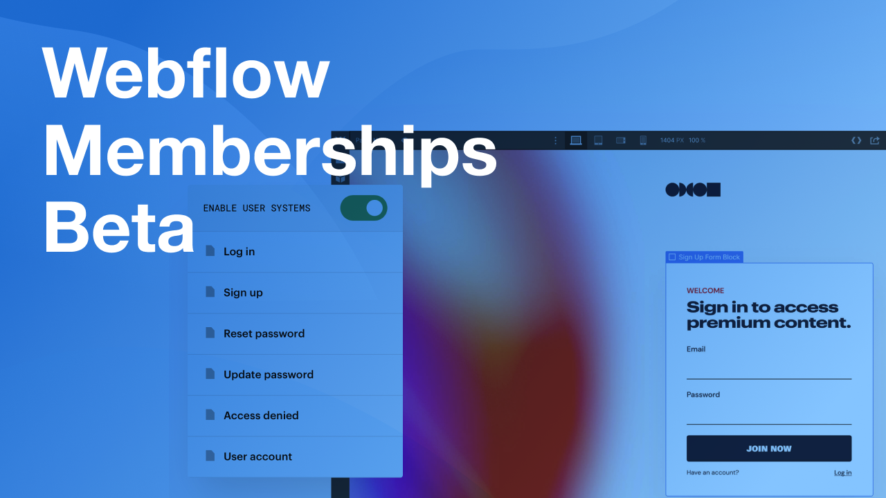 Webflow Memberships Beta: What We Can Expect