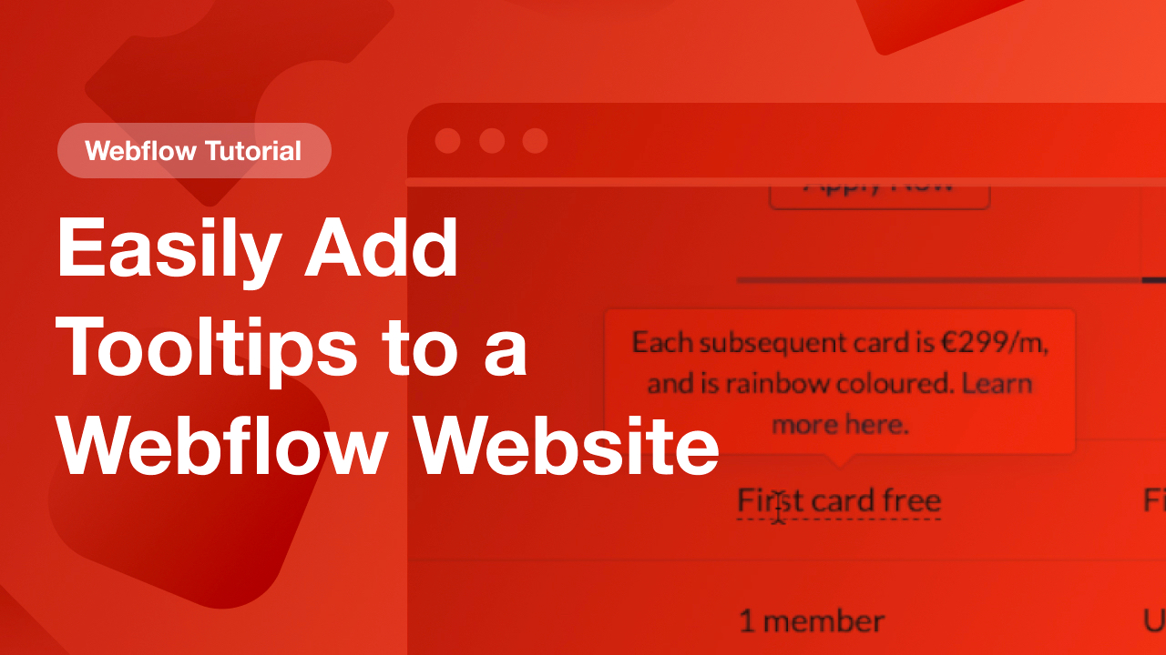 Easily Add Tooltips to a Webflow Website