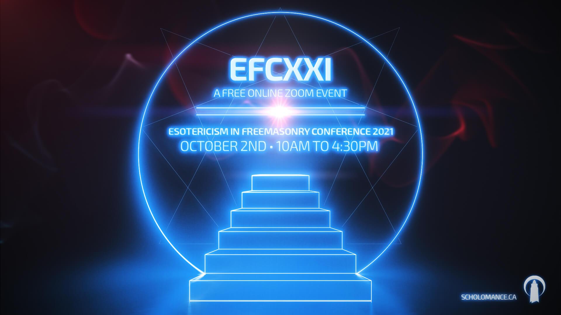 Esoteric freemasonry conference 2021 poster