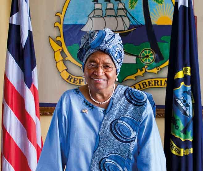 Liberia's former President Ellen Johnson Sirleaf