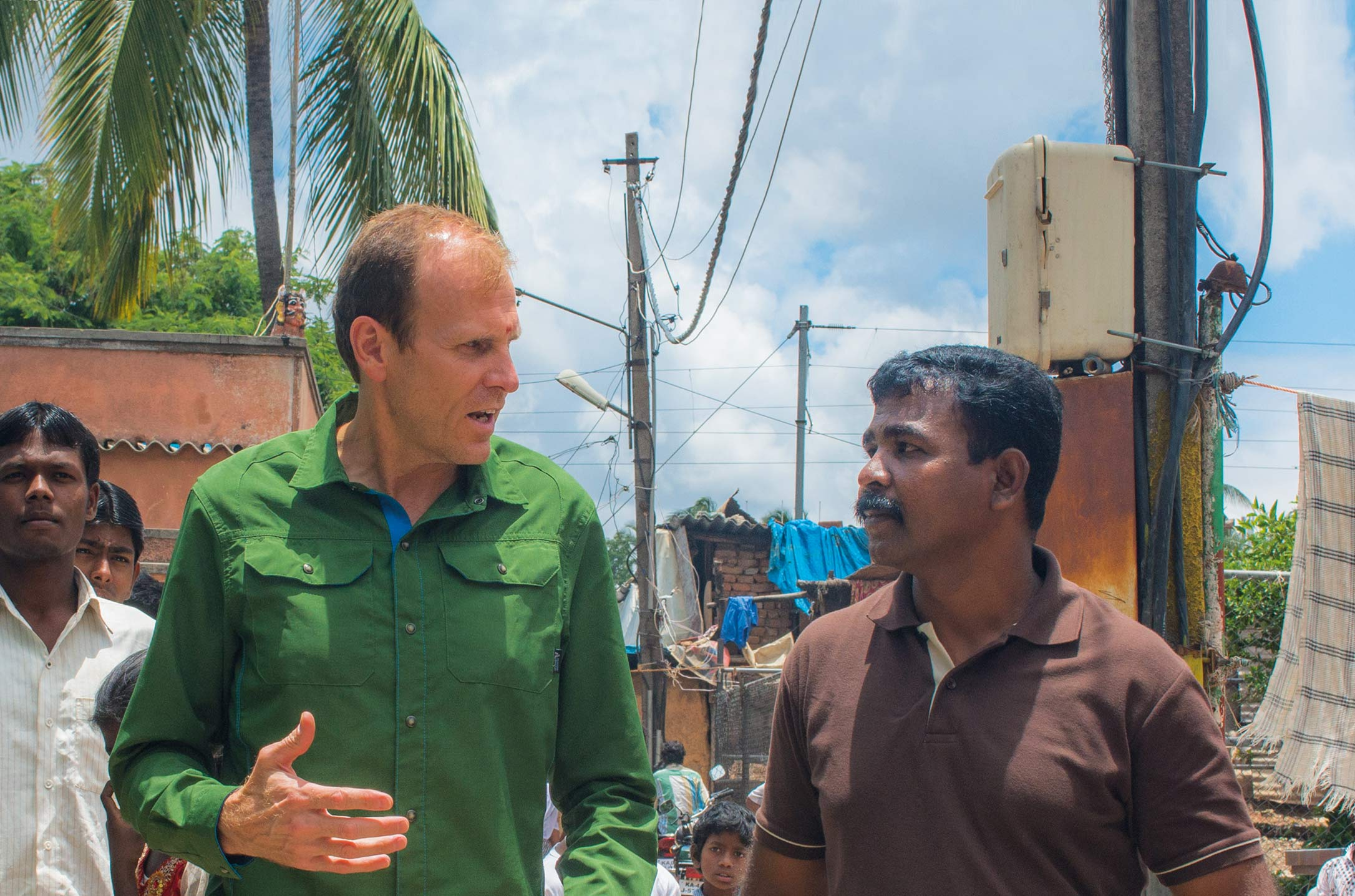 Gary White during a site visit in India in 2013.