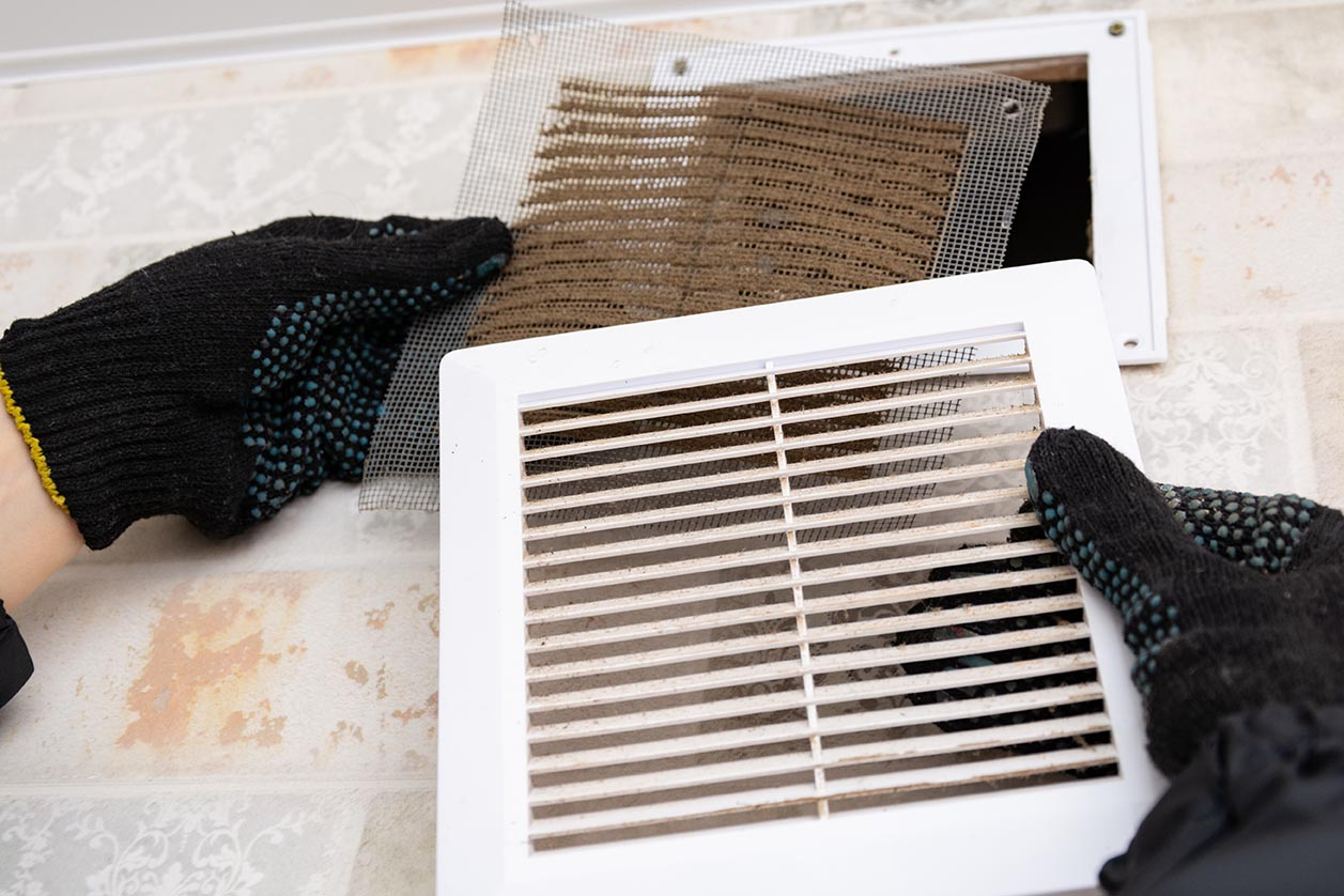 dirty ac filter replacement