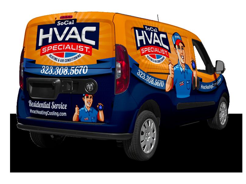 SoCal HVAC Specialist truck