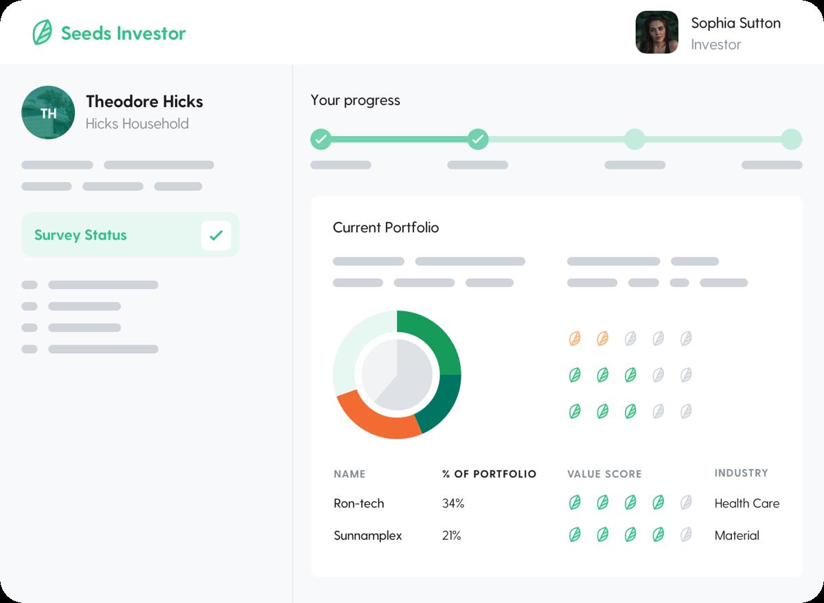 A investor portfolio view of the Seeds Investors platform.