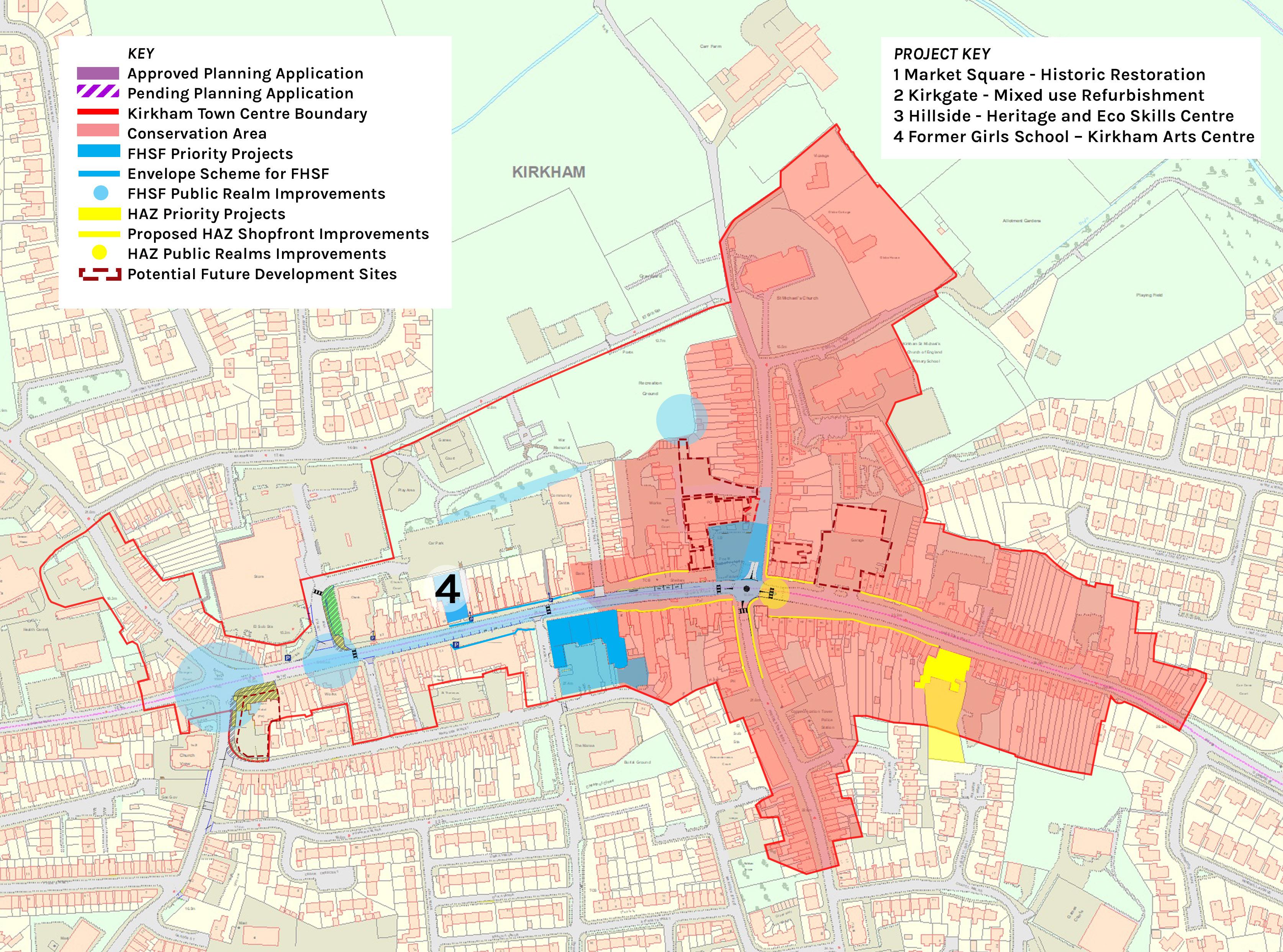 Location plan of Kirkham Arts & Heritage Centre/ Community Centre