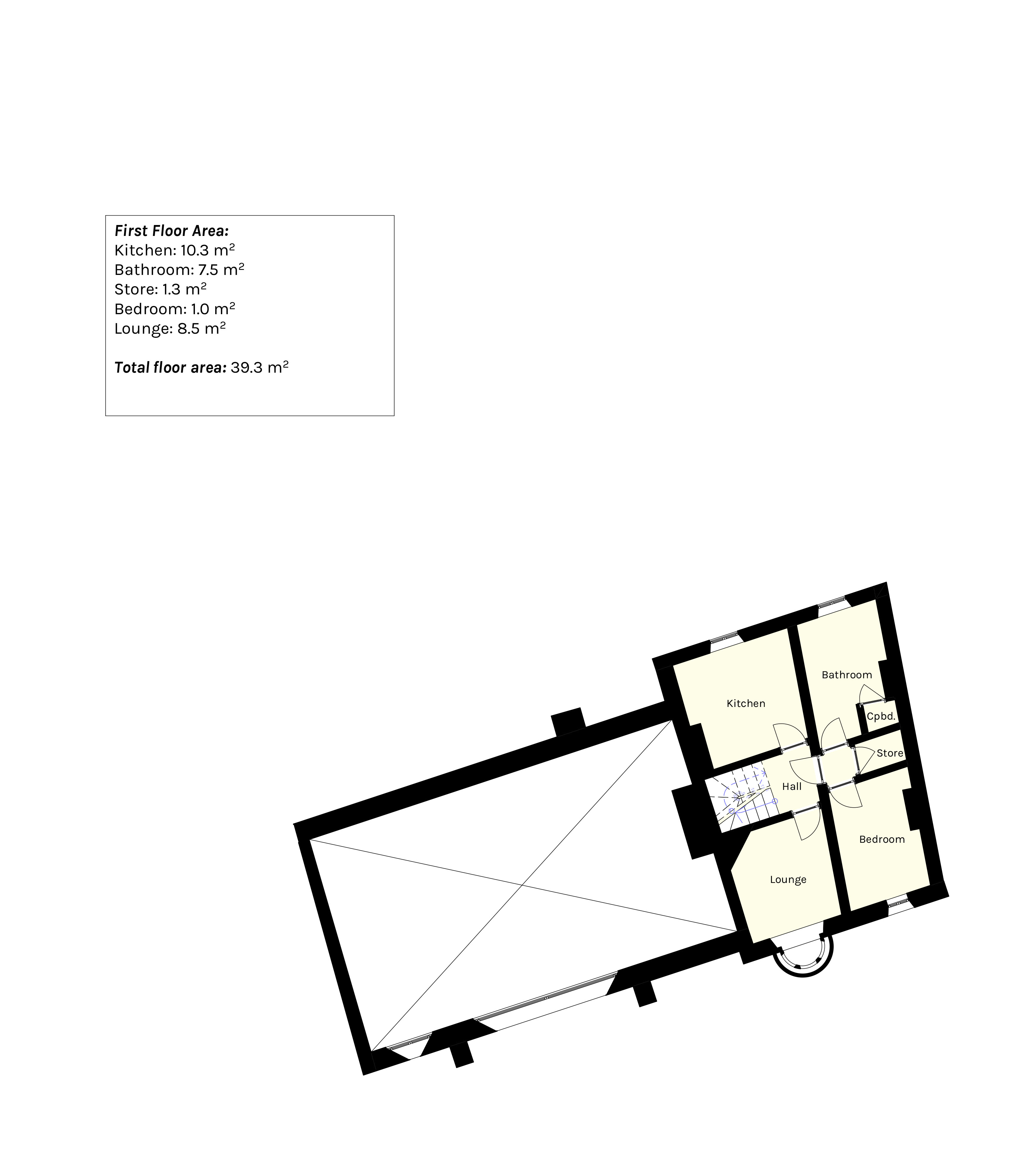 Existing first floor plan of former TSB bank