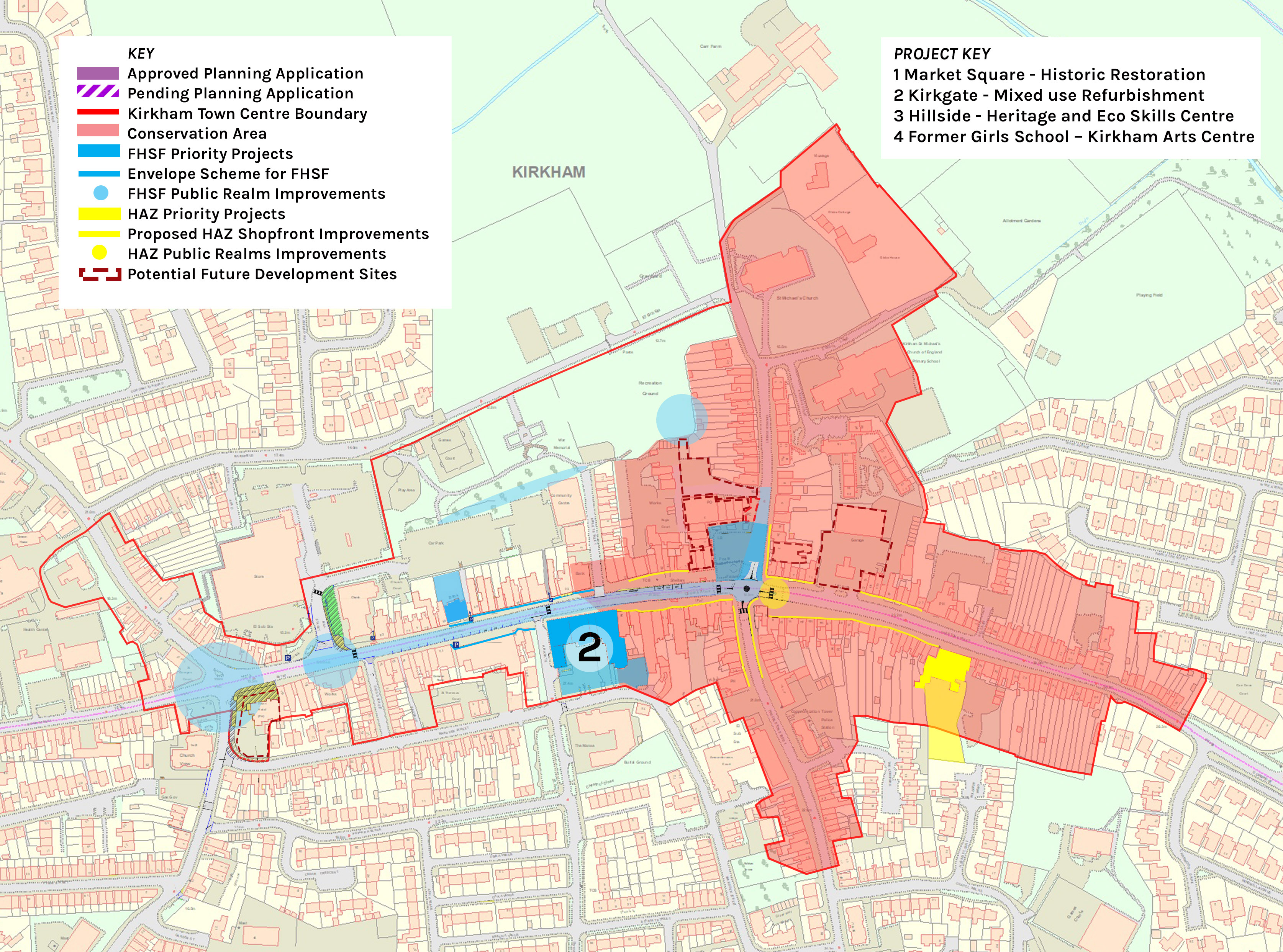Location plan of Kirkgate Centre
