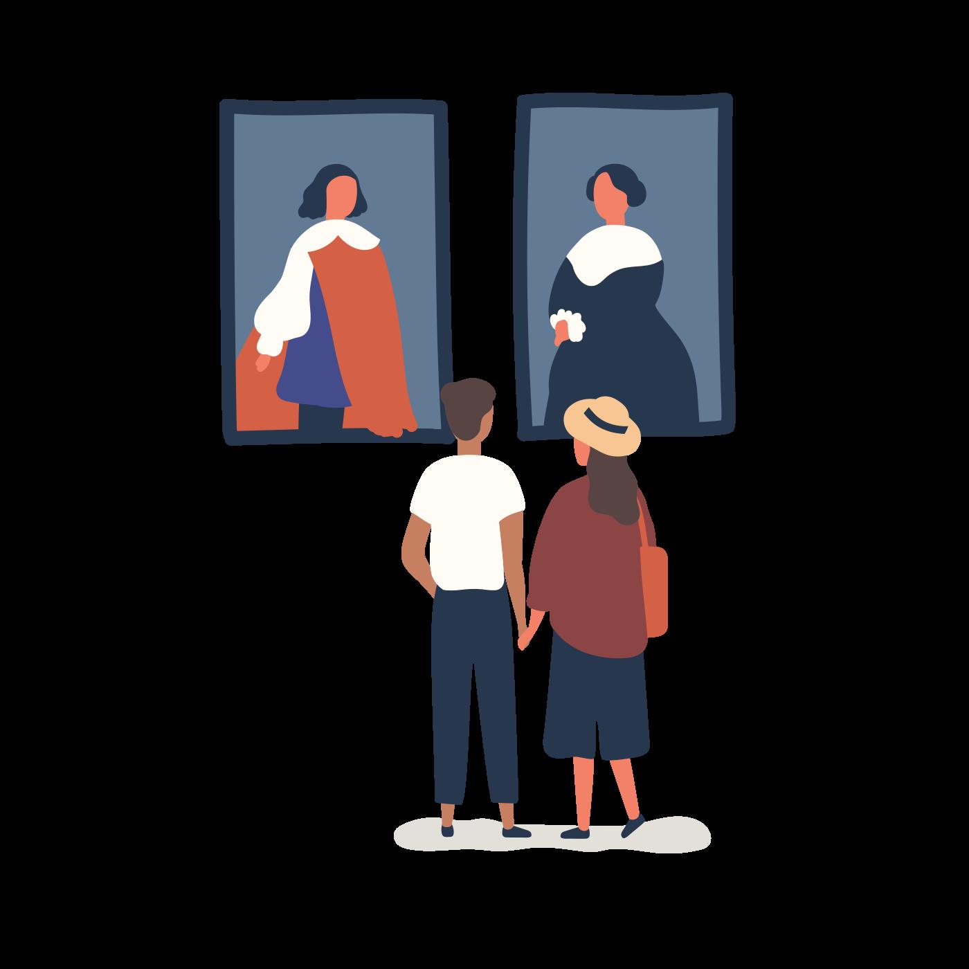 Art Dealers illustration