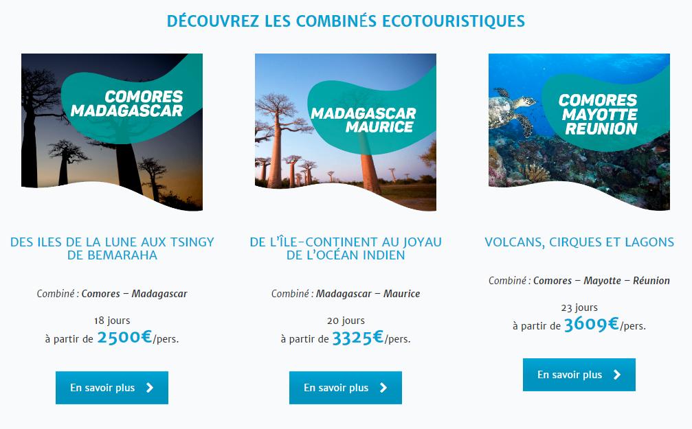 3 forfaits écotouristiques des Iles Vanille