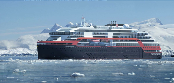 hurtigruten green cruiseship