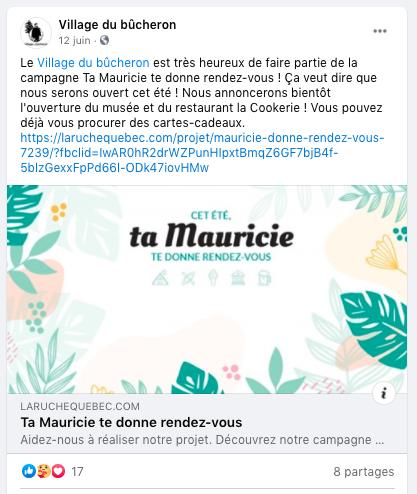 Conseil 6 - amplifier la portée des campagnes Mauricie