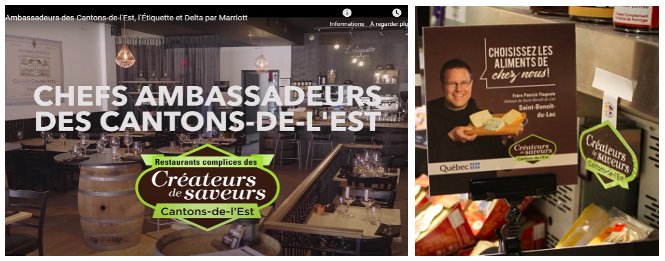 Restaurants créateurs de saveurs Cantons-de-l'est