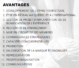 Avantages membres Société Économusée