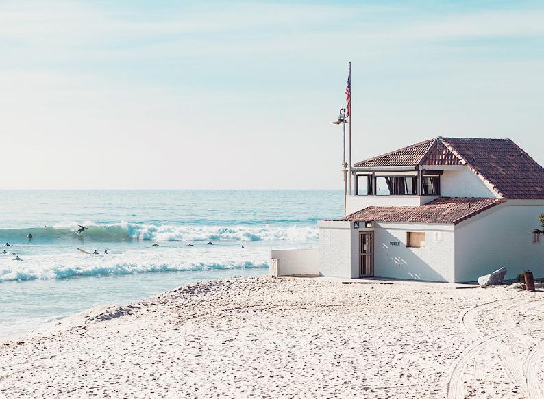 The beach in California