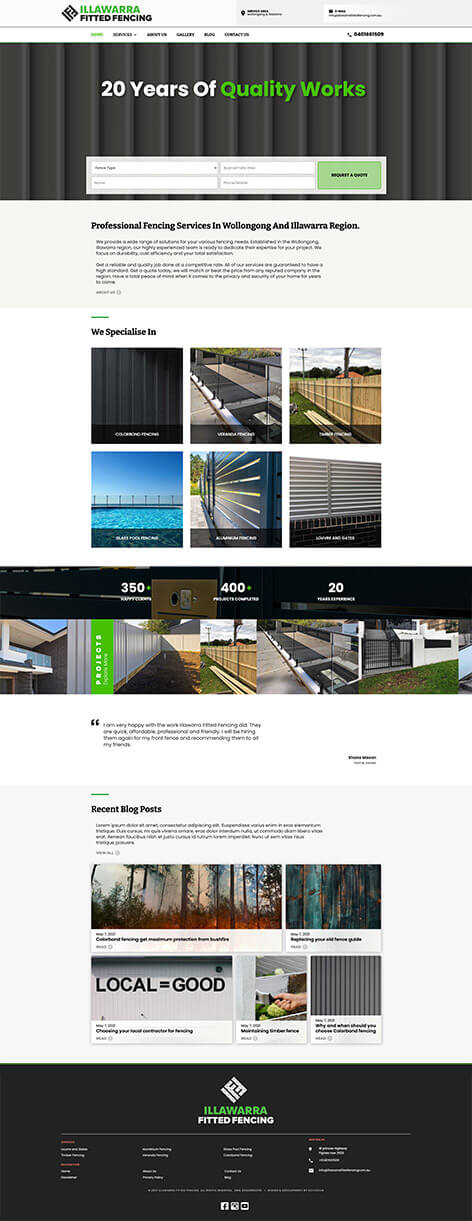 Illawarra Fitted Fencing Website