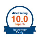 AVVO Rating Top Attorney Family Logo