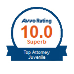 AVVO Rating Top Attorney Juvenile Logo