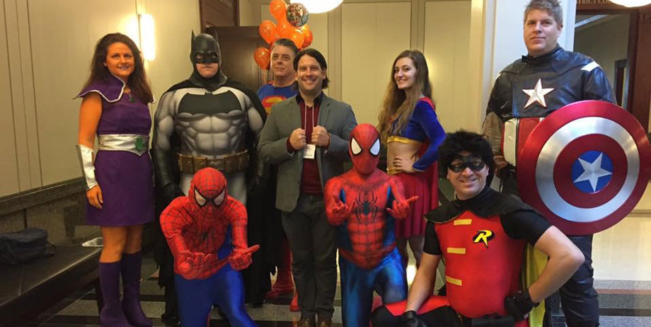 National Adoption Day super heroes.
