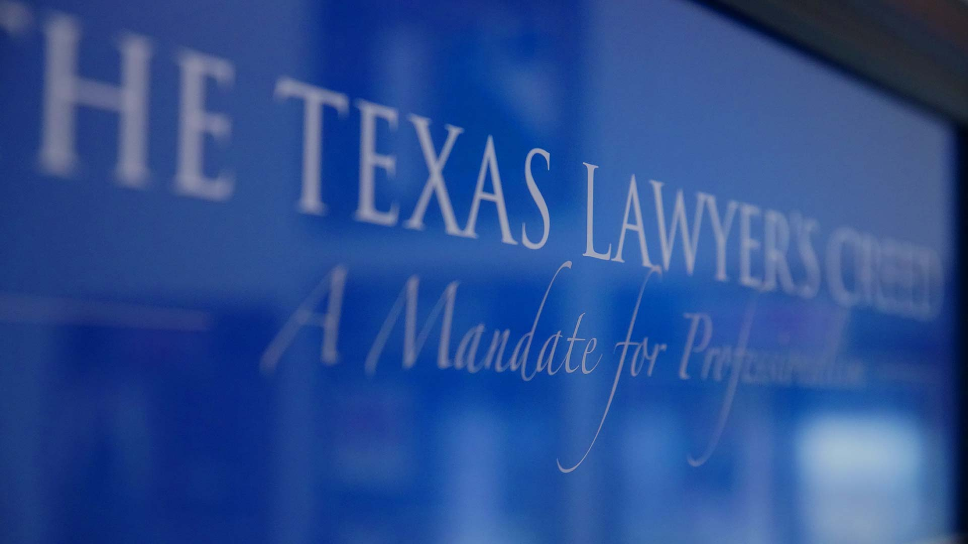 Image of the Texas Lawyers Creed to represent the Wills page.