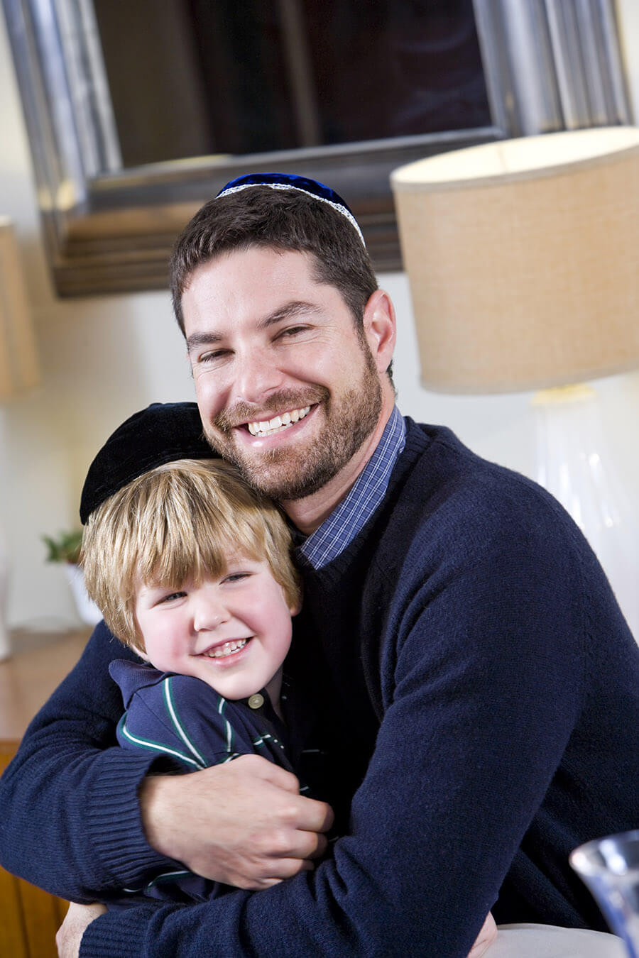 A jewish father and son