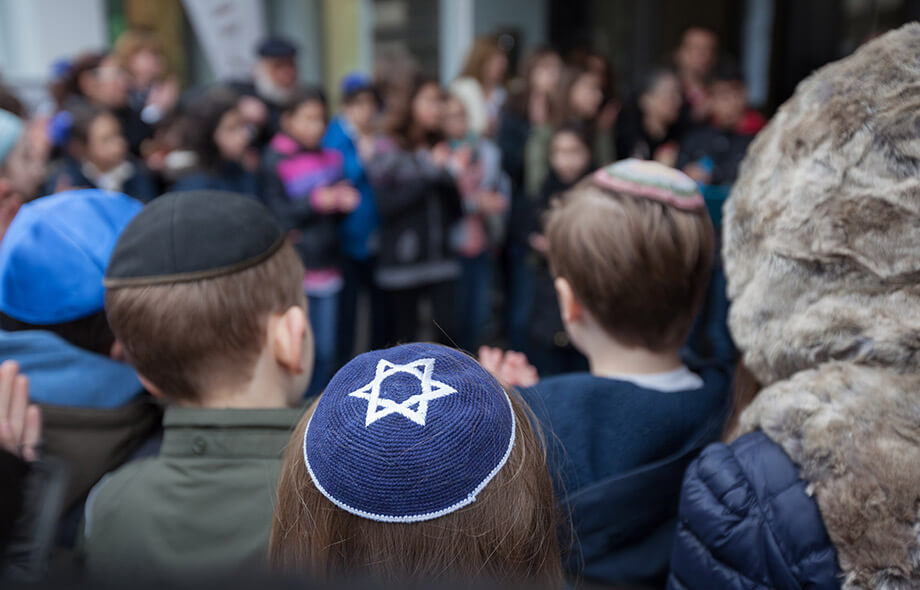 A group of jewish children