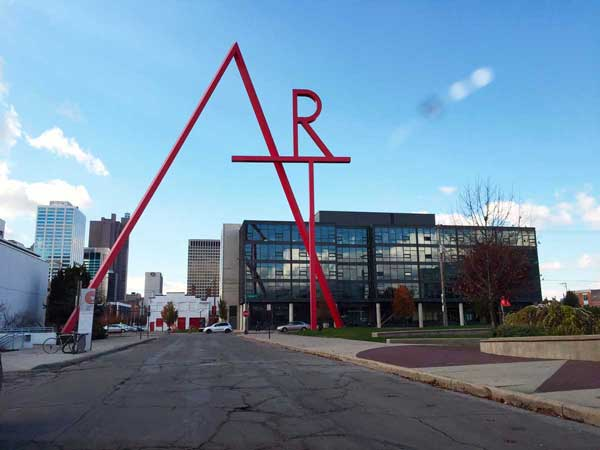 Exterior CCAD (Columbus College of Art and Design) in Columbus, Ohio