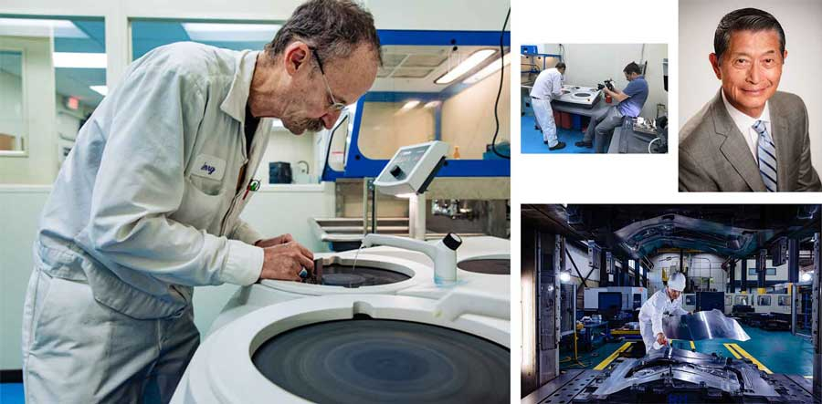 collage of images from a Robb McCormick photo shoot at Hidaka USA Inc. in Columbus, Ohio