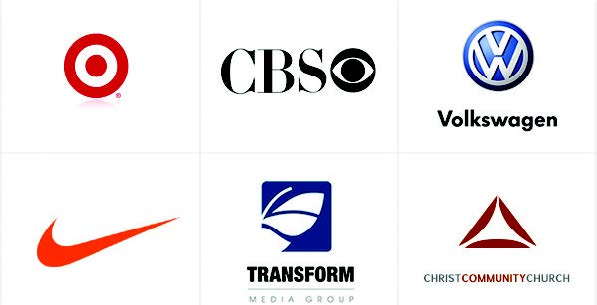 corporate logo examples - target, volkswagen, cbs, nike and more