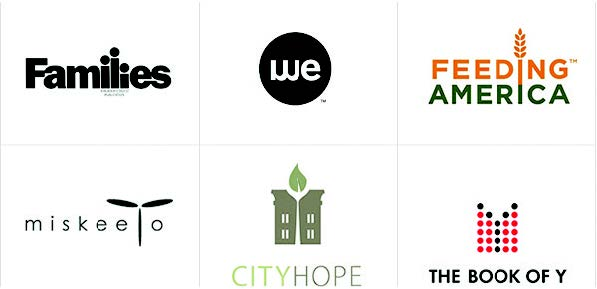 modern logo examples - city hope, the book of y, feeding america and more