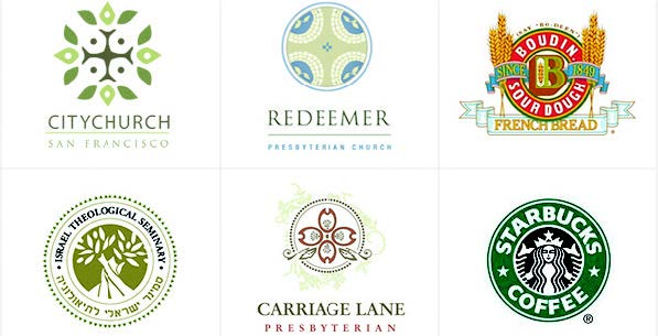 Historic logo examples - Boudin Sourdough French Bread, Starbucks Coffee and more