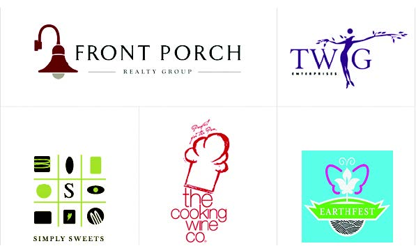 whimsical logo examples - simply sweets, the cooking wine company and more