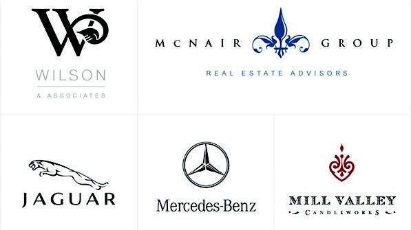 old world logo examples - mercedes benz, jaguar and others.