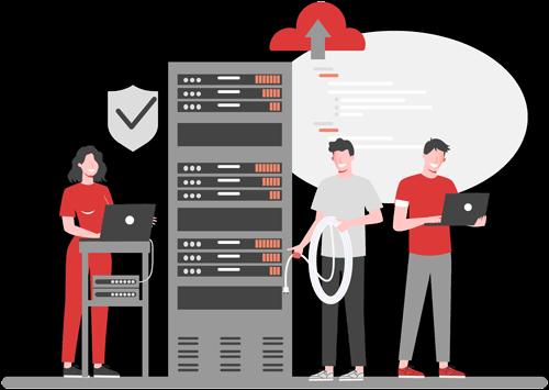 fast secure reliable hosting vector illustration - decoration