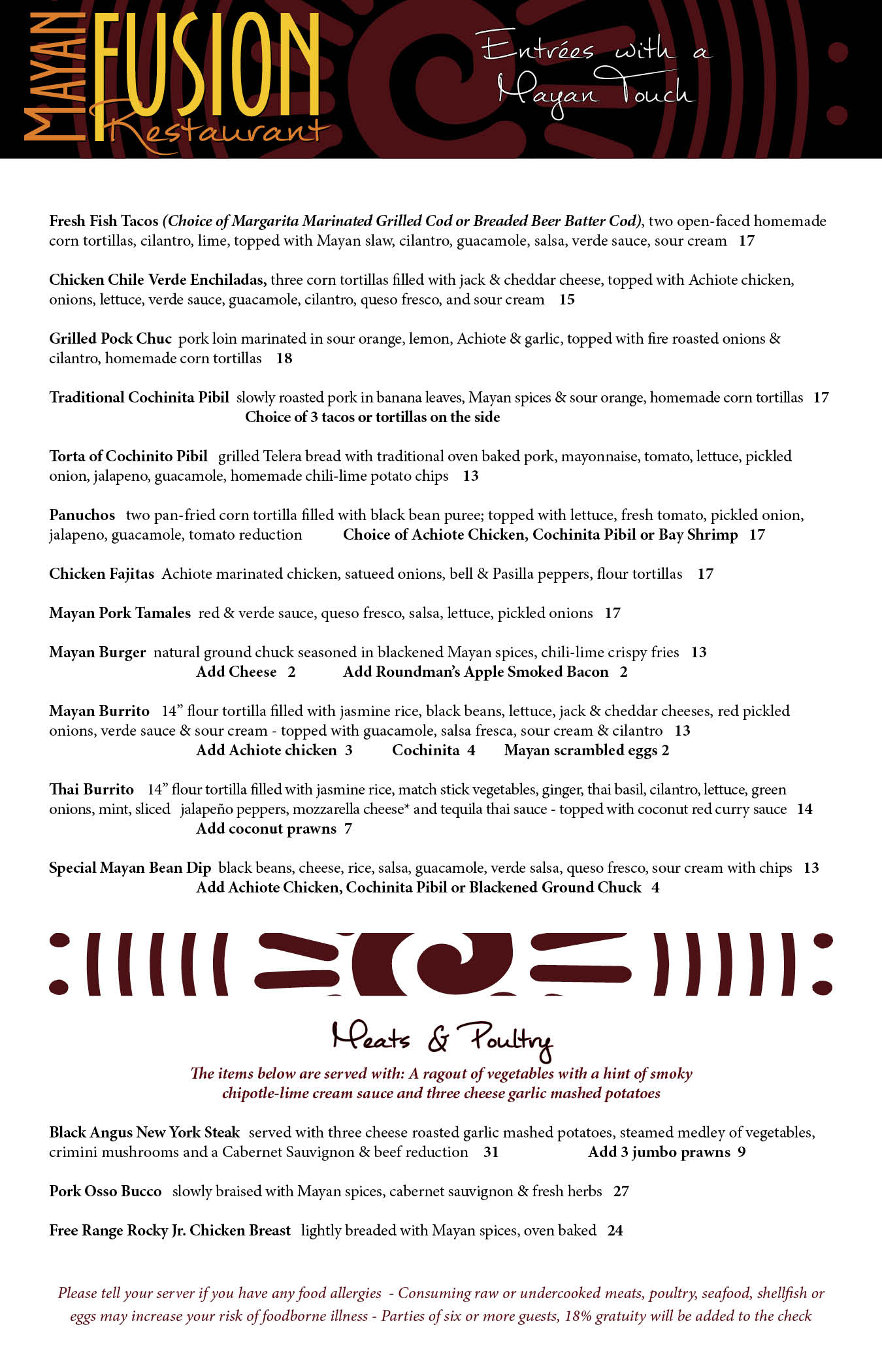 Food Menu. Click/Tap for pdf.