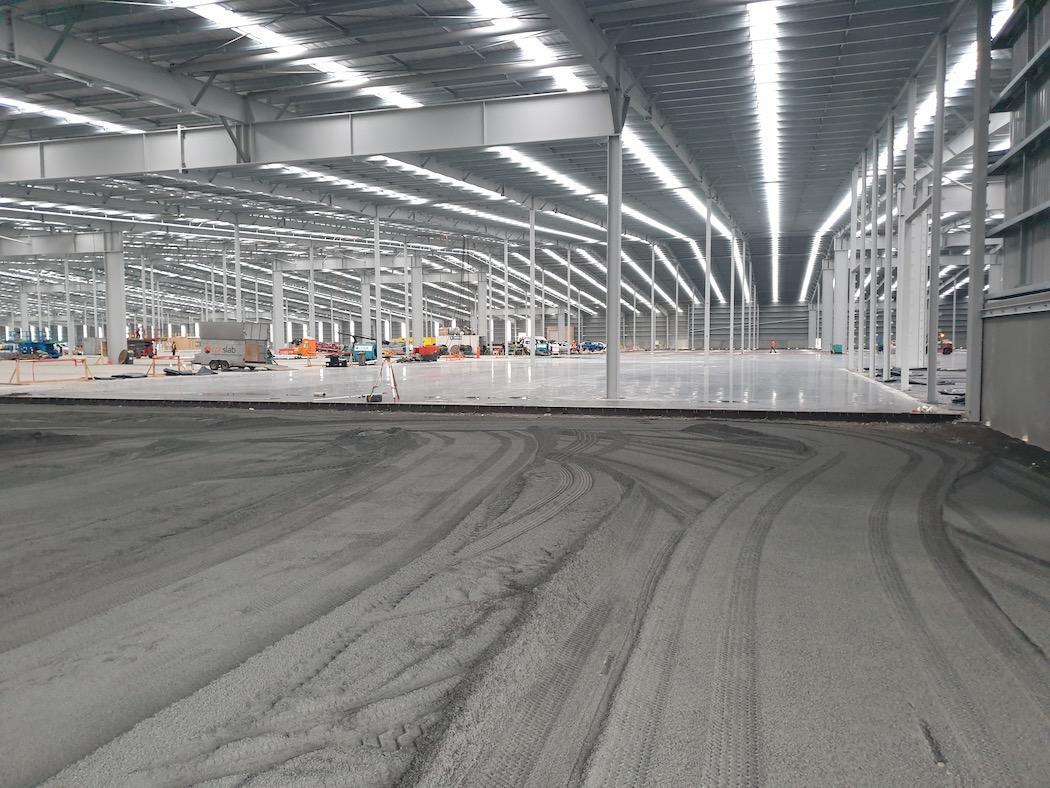 Commercial warehouse final floor prep