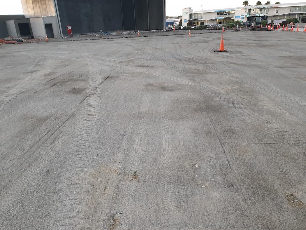 Dual Slope carpark prepared using UTS