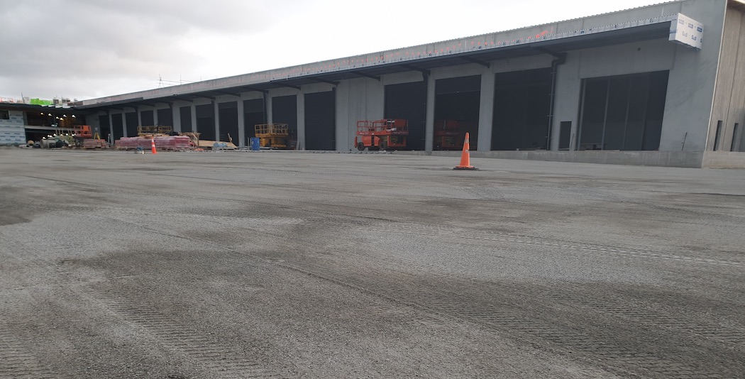 UTS Concrete Prep of commercial yard