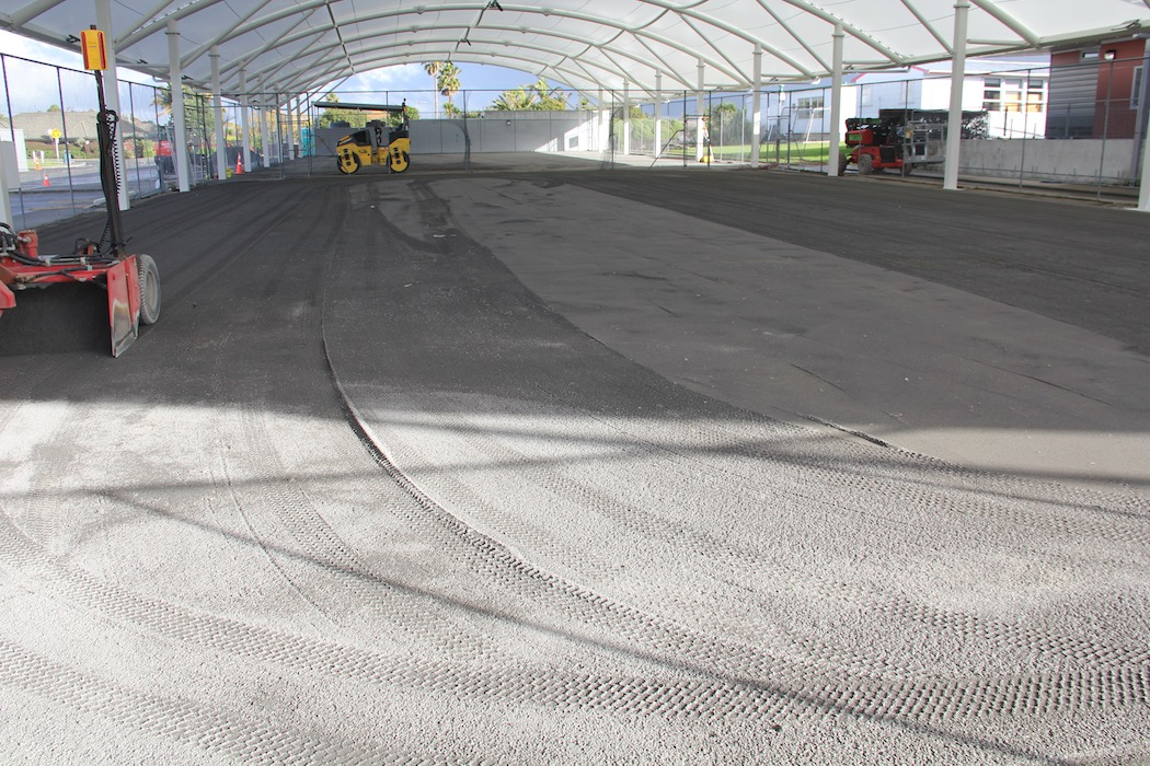 Indoor Multi Sports Surface prep for Auckland School project