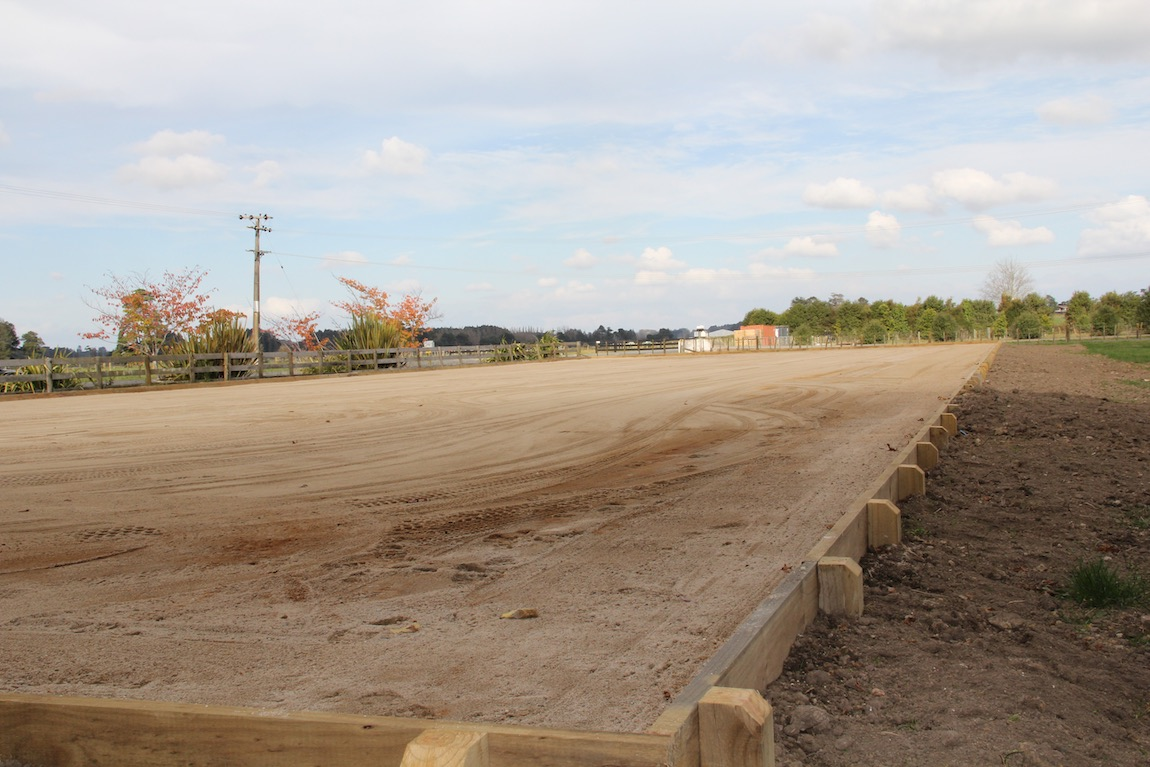 Final Arena Surface levelled