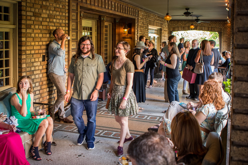 Be sure to come at 6 to enjoy appetizers, wine and beer on the most beautiful patio in Birmingham. Program begins at 7 p.m. Intermission features Church Street Coffee and Books break-up cookies.