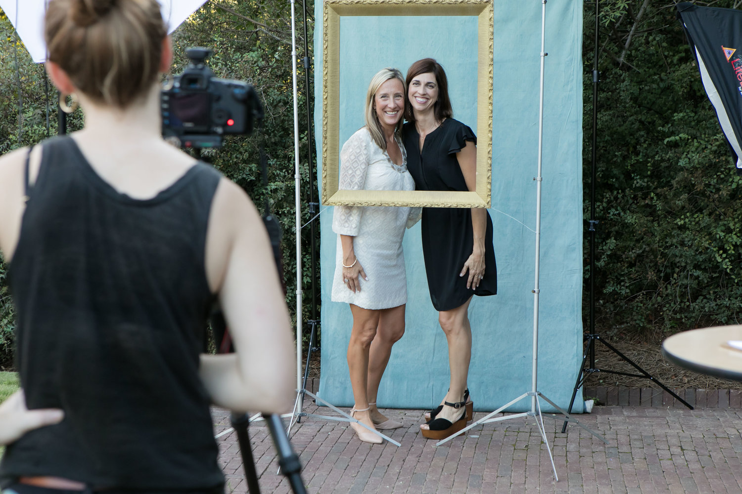 Photo booth provided by    Charity Ponter    (p.s. that's Elizabeth and Christi in the frame.) Photo by Emily Kicklighter