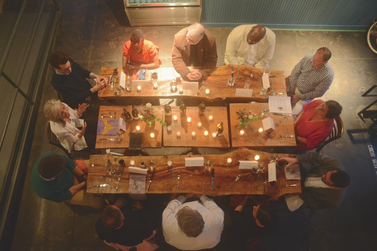 InSpero hosts pastor-artist dinners to seek mutual understanding for their shared vision to bring hope and healing to our city. Photo by Josh VIgneulle